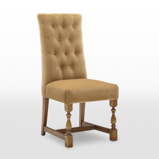 OC3170 Button Back Upholstered Dining Chair - Old Charm Furniture - Wood Bros