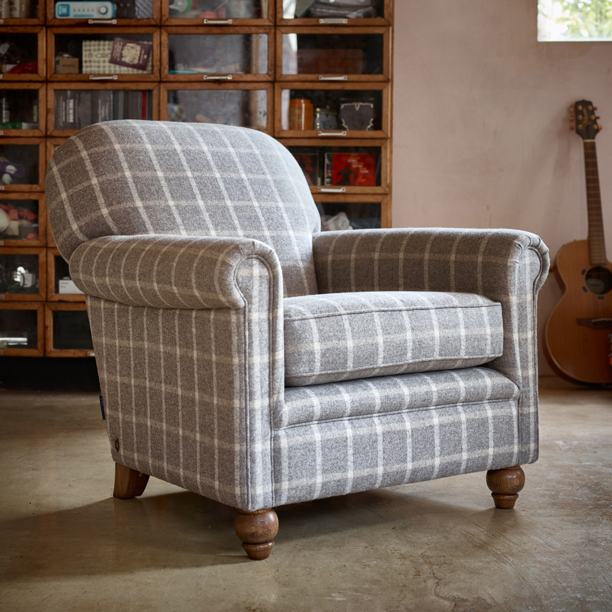 Ripley Armchair RIP140 Moon Fabrics Wood Bros