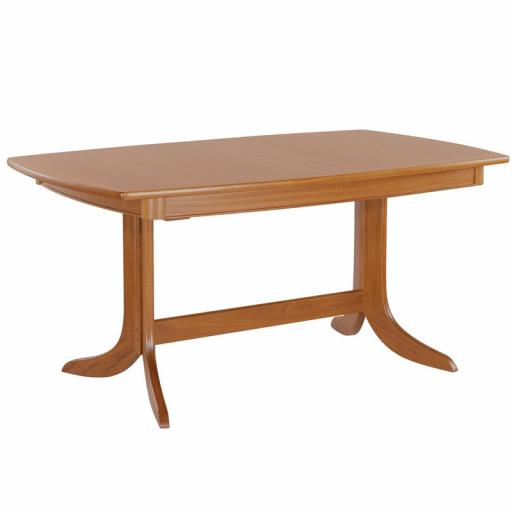 2174 Small Boat Shaped Dining Table on Legs - Nathan Shades Teak Furniture