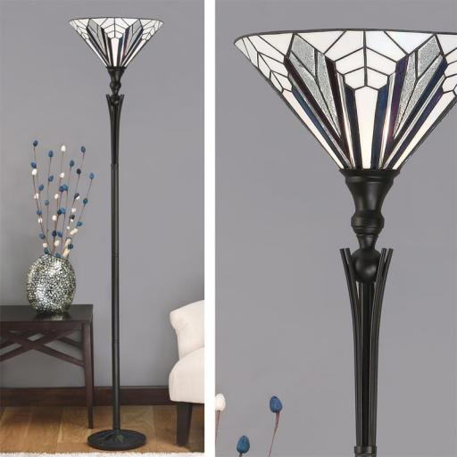 Astoria Uplighter Floor Lamp - Interiors 1900 Tiffany Lighting