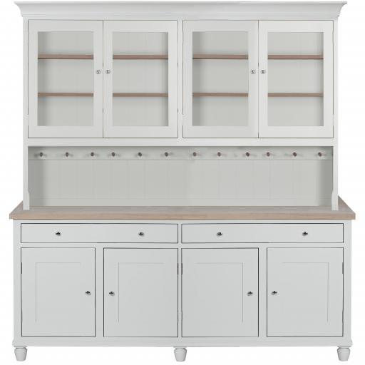 Suffolk 6ft Glazed Dresser - Neptune Furniture