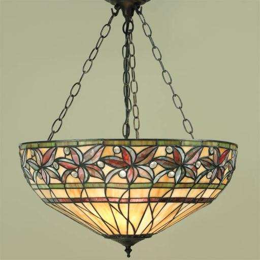 Ashtead Inverted Pendant - Interiors 1900 Tiffany Light