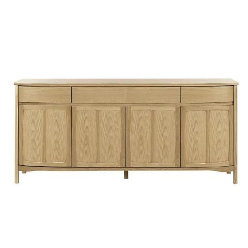 Shades Oak Range - Nathan Furniture 1805 Shaped 4 Door Sideboard