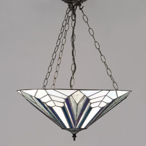 Astoria Large Inverted Pendant - Interiors 1900 Tiffany Lighting