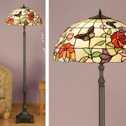 Butterfly Floor Lamp - Interiors 1900 Tiffany Light