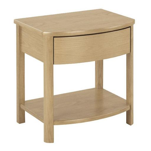 5905 Curved Lamp Table - Nathan Furniture - Shades Oak - Occasions Oak