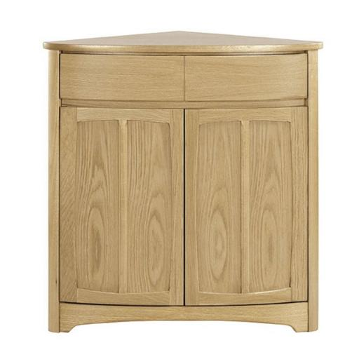Shades Oak Range - Nathan Furniture 1915 Shaped Corner Base Unit
