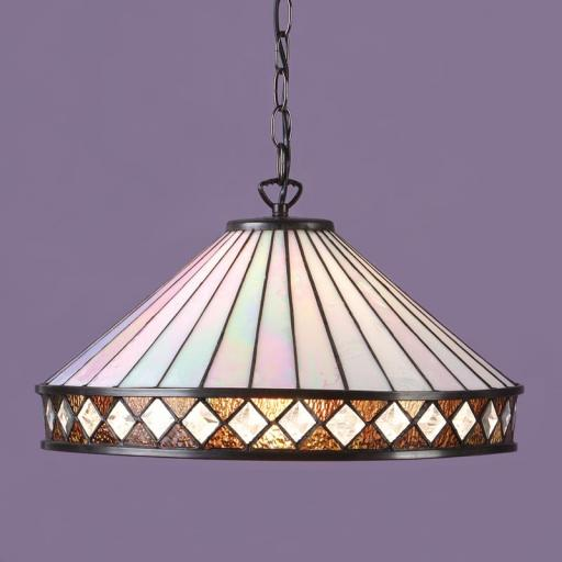 Fargo Large Pendant White - Interiors 1900 Tiffany Lighting