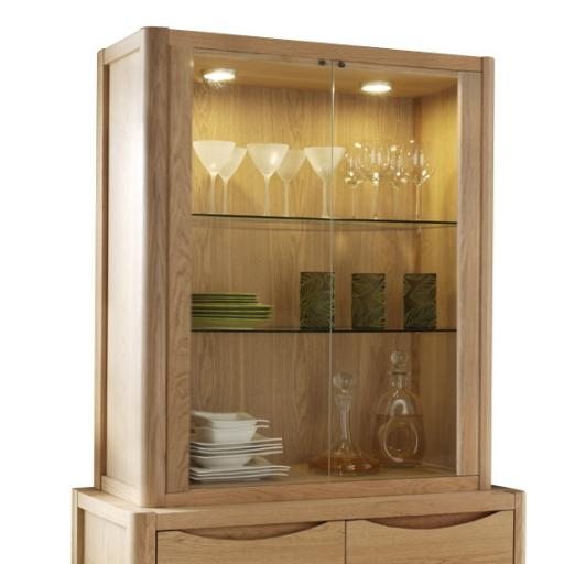 Stockholm 2 Door Display Top - Winsor Furniture WN203