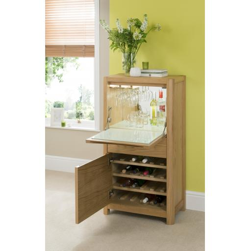 Stockholm Drinks Cabinet Unit - Winsor Furniture WN220B