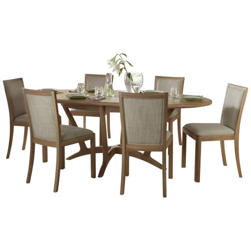 Stockholm Oval Extending Dining Table - Winsor Furniture WN218