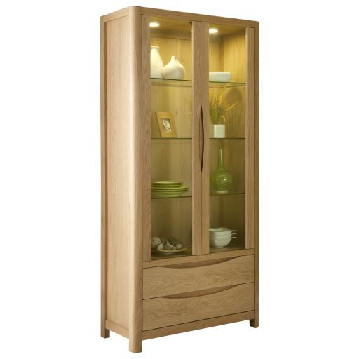 Stockholm 2 Door Tall Display - Winsor Furniture WN211