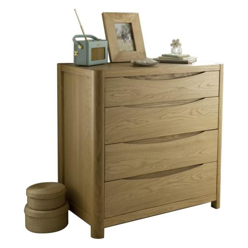 Stockholm 4 Drawer Chest - Winsor Bedroom Furniture WN22