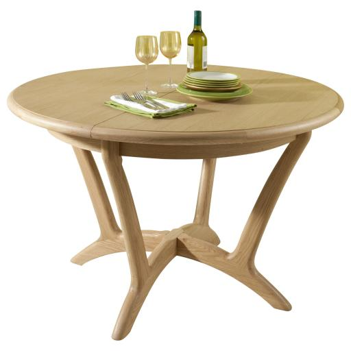 Stockholm Round Extending Dining Table - Winsor Furniture WN219