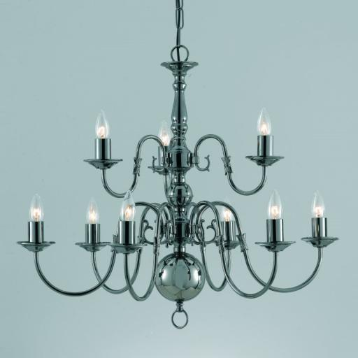 Flemish 9 Light Chandelier BF00350/6 3 - Impex Lighting