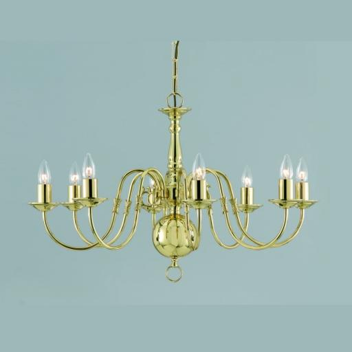 Flemish 8 Light Chandelier BF00350/08 - Impex Lighting