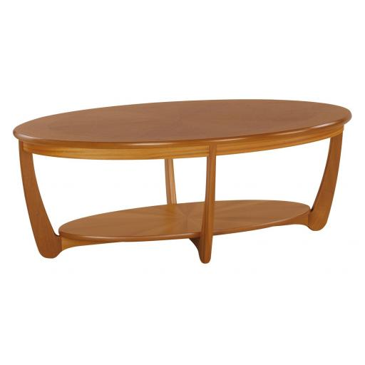 Nathan Furniture 5844 Sunburst Top Oval Coffee Table- Nathan Shades Furniture