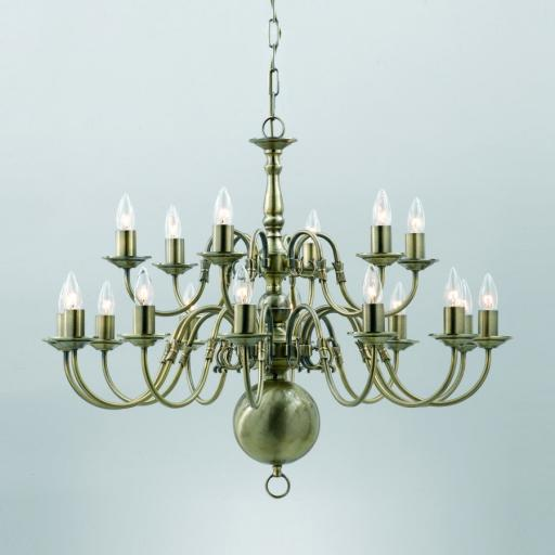 Flemish 18 Light Chandelier BF00350/12 6 - Impex Lighting