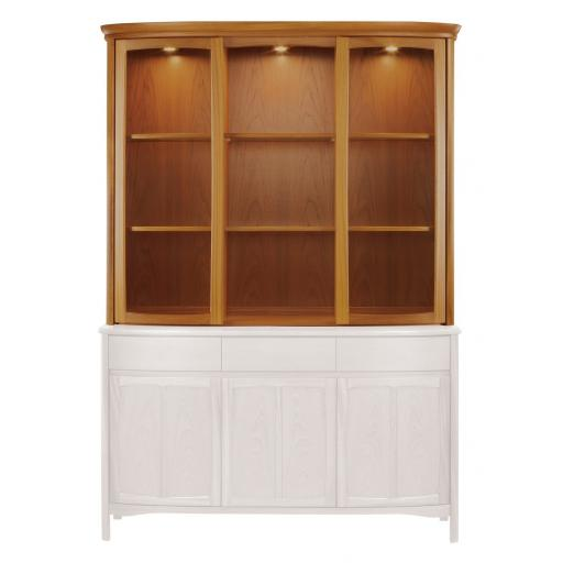 Nathan Furniture 4804 Shaped Glass Door Display TOP - Nathan Shades Furniture