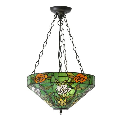 Agapantha Medium Inverted 3Lt Pendant - 74438 - Interiors 1900 Tiffany Lighting