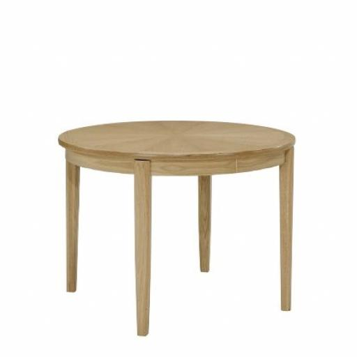 2135 Circular Dining Table on Legs - Nathan Furniture - Shades Oak