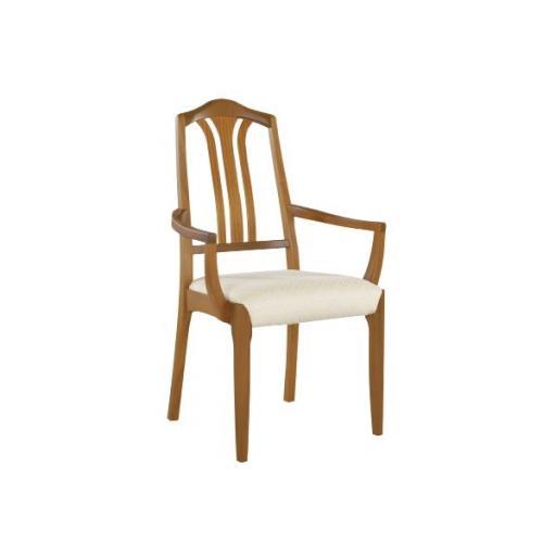 Nathan Furniture 3134 Slat-Back Dining Carver - Classic Teak Range