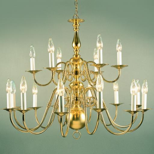 Antwerp 12 Light Brass Chandelier BF19312/12 - Impex Lighting