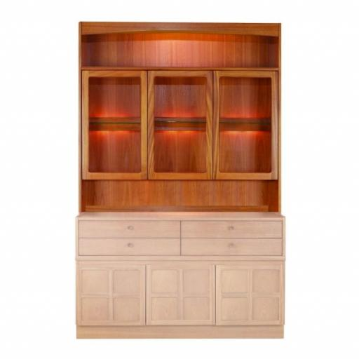 Nathan Furniture 4824 Display Combination Cabinet Top Unit - Classic Teak Range