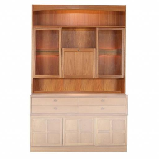 Nathan Furniture 4304 Cocktail Combination Cabinet Top Unit - Classic Teak Range
