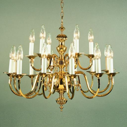 Ghent 18 Light Brass Chandelier BF19119/18 - Impex Lighting