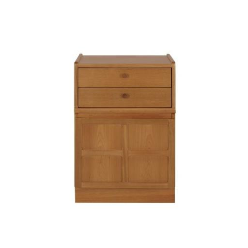 Nathan Furniture 4014 2 Drawer Mid Storage Unit - Classic Teak Range
