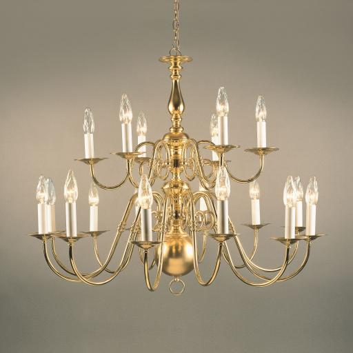 Antwerp 18 Light Brass Chandelier BF19350/18 - Impex Lighting