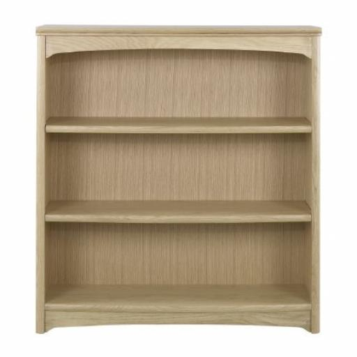 Nathan Furniture 8993 Mid Height Double Bookcase - Editions Oak