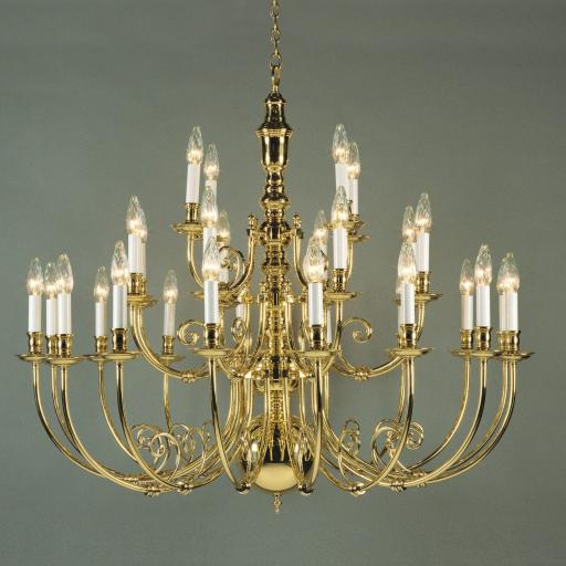 Beveren 28 Light Brass Chandelier BF19700/28 - Impex Lighting