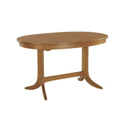 Nathan Furniture 2114 Oval Dining Table on Pedestal - Classic Teak Range