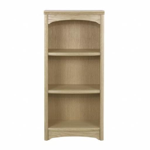 Nathan Furniture 8994 Mid Height Single Bookcase - Editions Oak Range