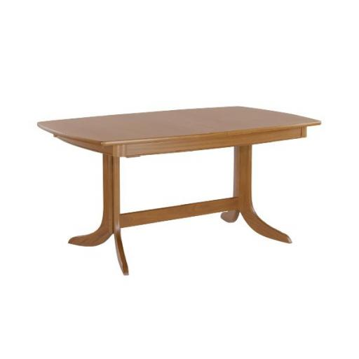 Nathan Furniture 2174 Small Boat Shaped Dining Table on Legs - Classic Teak Range