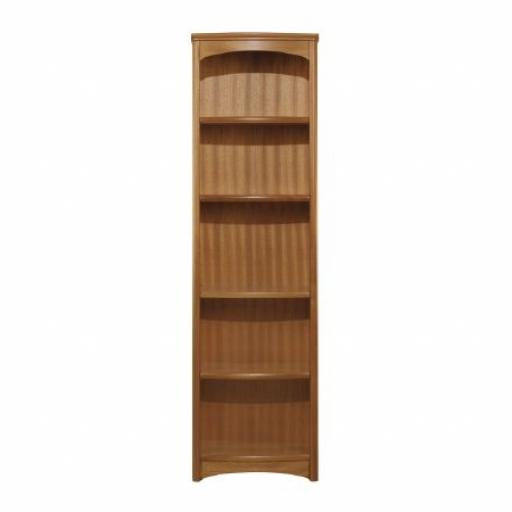 Nathan Furniture 6992 Tall Single Bookcase - Editions Teak