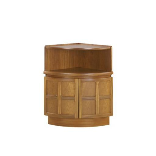 Nathan Furniture 4774 External Corner Mid Storage Unit - Classic Teak Range