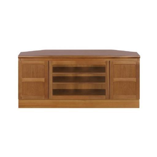 Nathan Furniture 5254 Corner TV Cabinet - Classic Teak Range