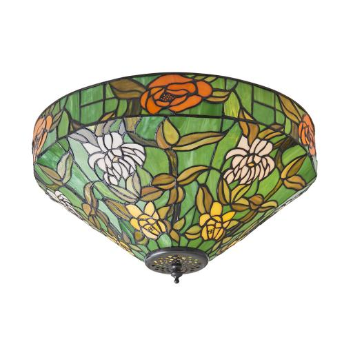 Agapantha Medium 2Lt Flush - 74439 - Interiors 1900 Tiffany Lighting