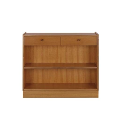Nathan Furniture 6454 Low Open Bookcase - Classic Teak Range