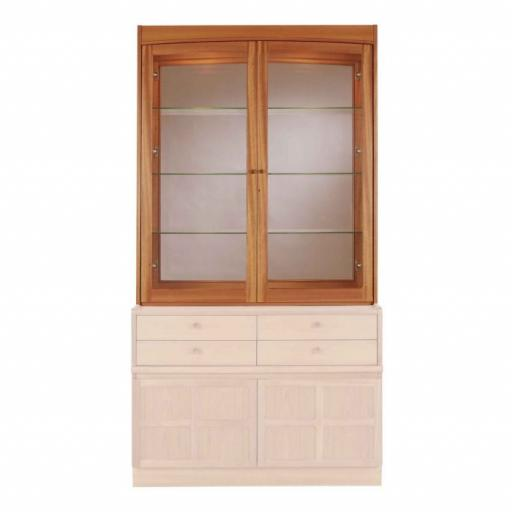Nathan Furniture 4064T Glazed Display Top Cabinet - Classic Teak Range