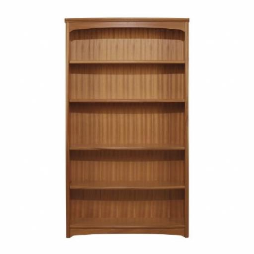 Nathan Furniture 6991 Tall Double Bookcase - Editions Teak