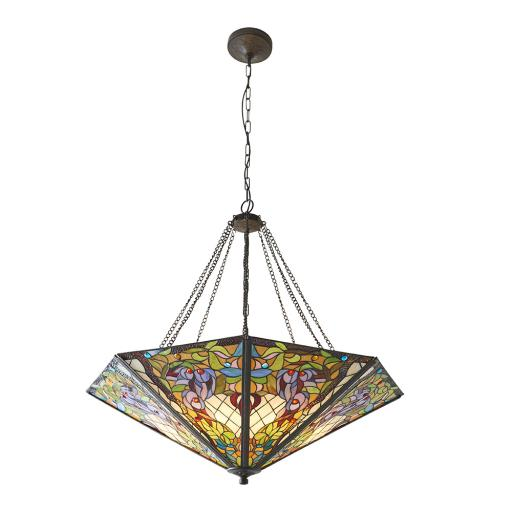 Anderson Mega Panel Inverted 8Lt Pendant - 63901 - Interiors 1900 Tiffany Lighting