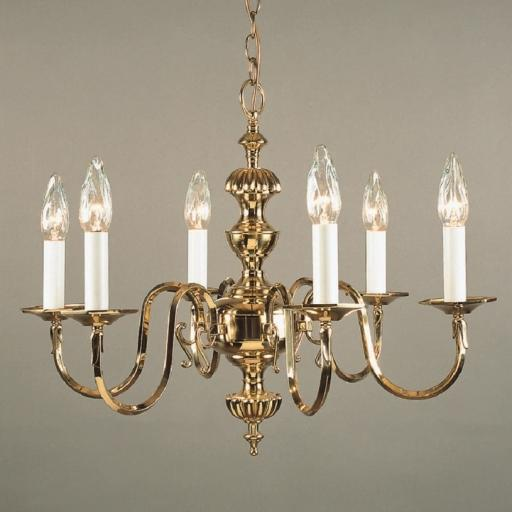 Ghent 6 Light Brass Chandelier BF19106/06 - Impex Lighting