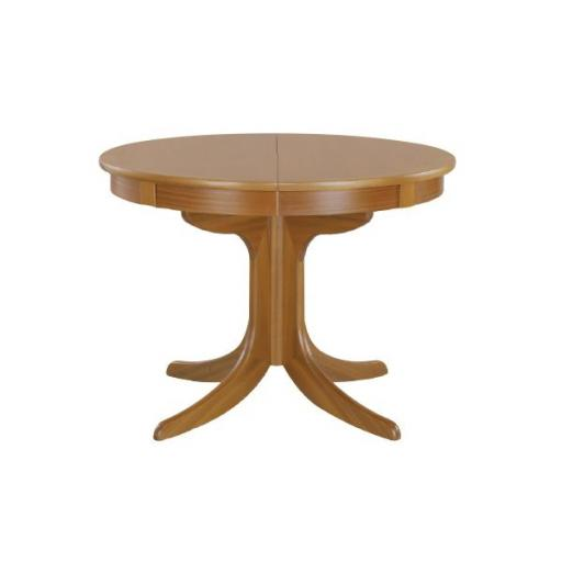 Nathan Furniture 2124 Circular Dining Table on Pedestal - Classic Teak Range