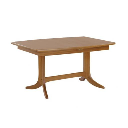 Nathan Furniture 2144 Small Boat Shaped Dining Table on Pedestal - Classic Teak Range