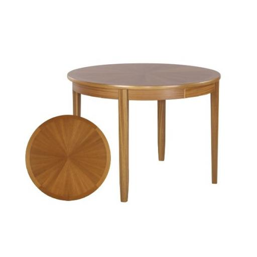 Nathan Furniture 2904 Sunburst Flip Top Round Dining Table - Classic Teak Range