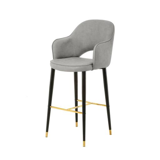 Hadley Highback Stool (Grey) - EHM008 - Mindy Brownes